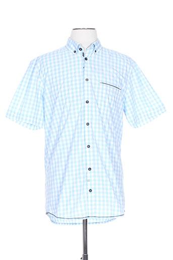 calamar chemises homme de couleur bleu