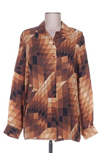 nolwenn chemises femme de couleur marron
