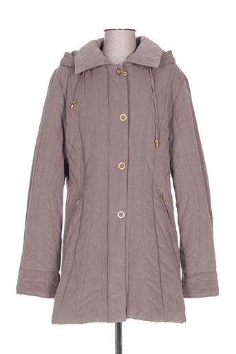 griffon manteaux femme de couleur marron