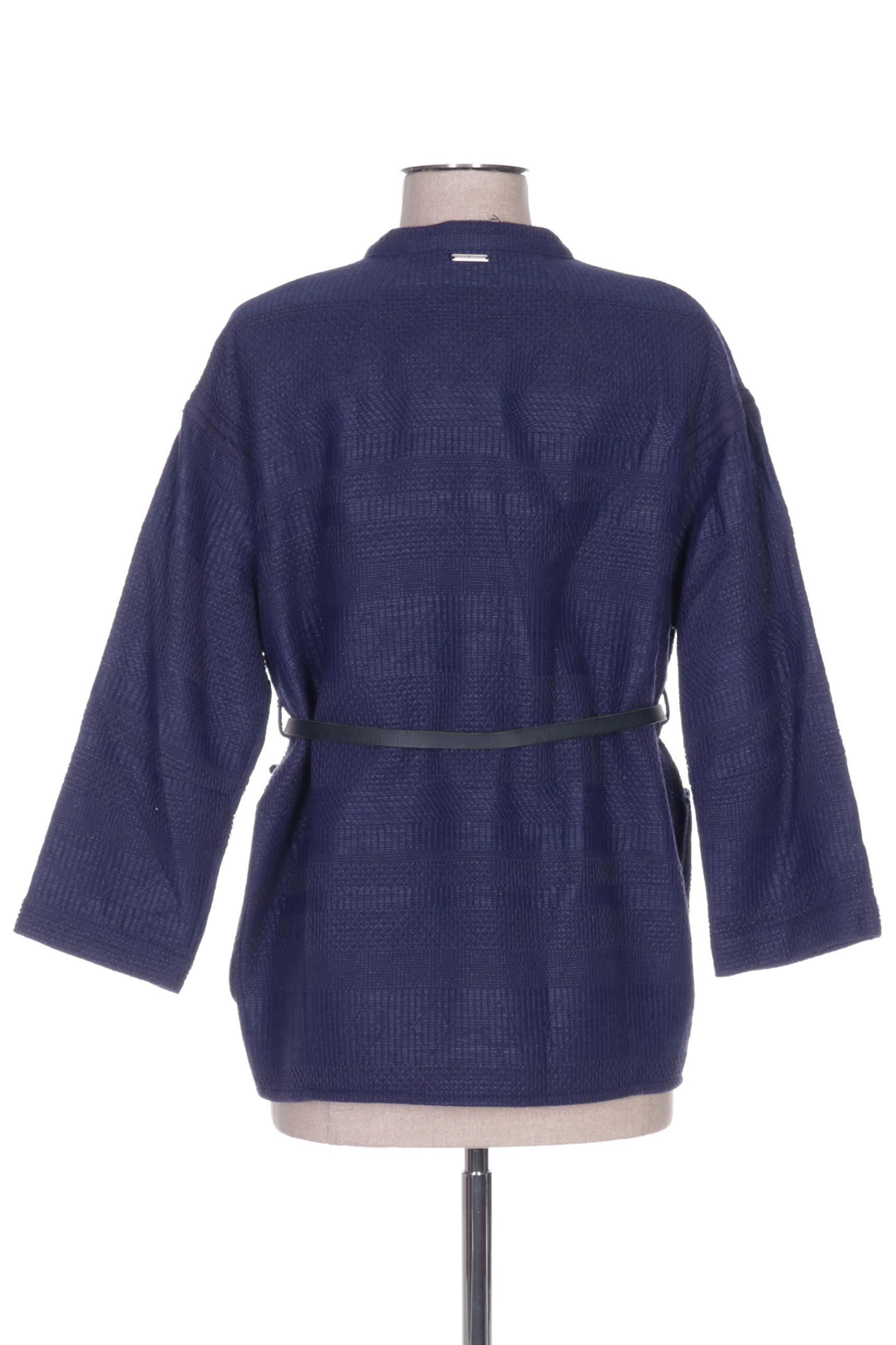 One Step Vestecasual Femme De Couleur Bleu En Soldes Pas Cher 1158721-bleu00
