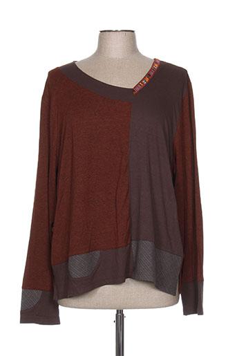 jean gabriel t-shirts femme de couleur marron