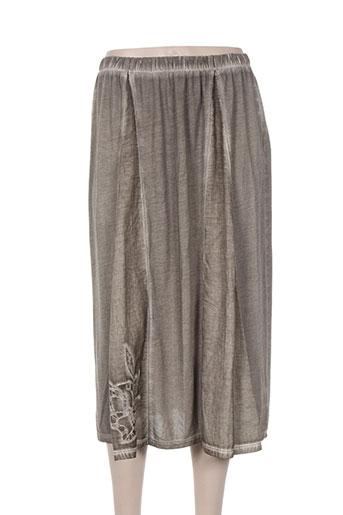Jupe longue gris GRIFFONNAGE pour femme