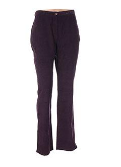 Pantalon casual violet MIA SOANA pour femme