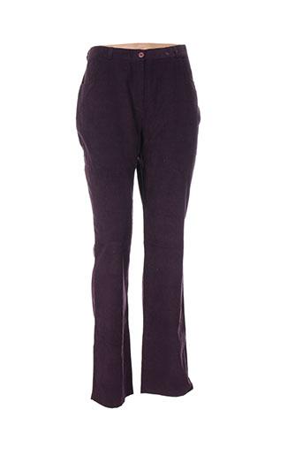 mia soana pantalons femme de couleur violet