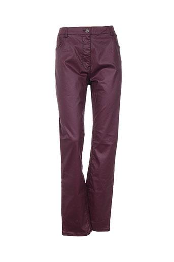 pause cafe pantalons femme de couleur violet