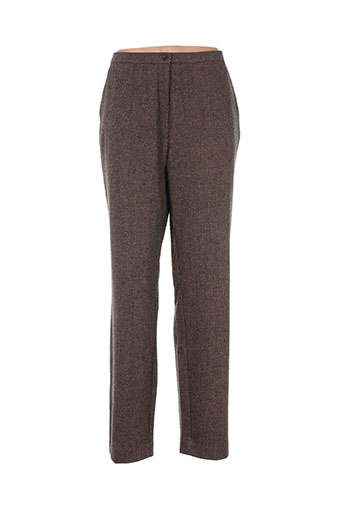 jean gabriel pantalons femme de couleur marron