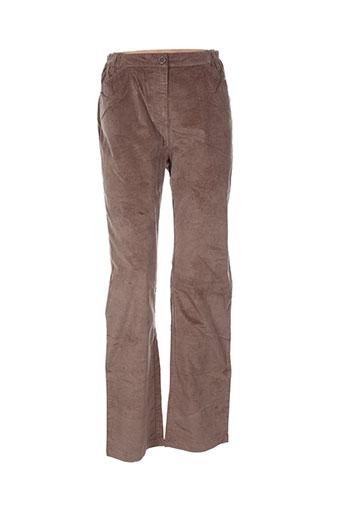 thalassa pantalons femme de couleur marron