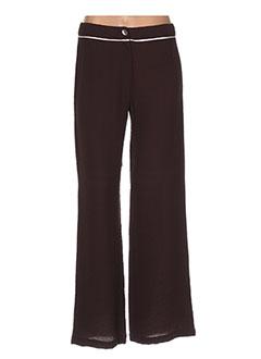 Pantalon casual marron FIGURE LIBRE pour femme