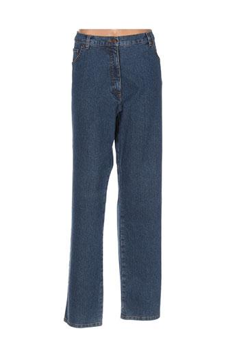 pauporté jeans femme de couleur bleu