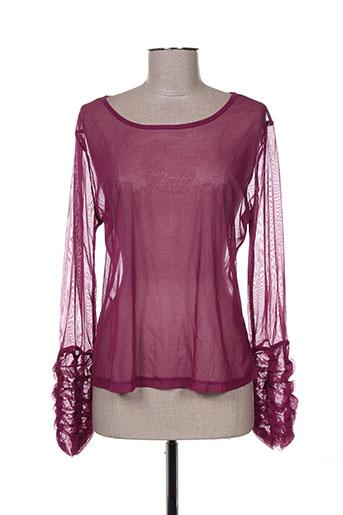 figure libre chemises femme de couleur violet