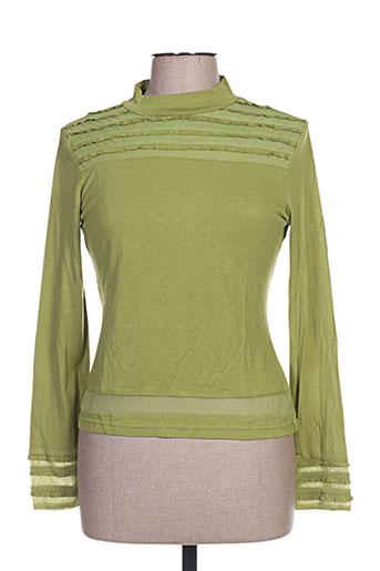 figure libre chemises femme de couleur vert