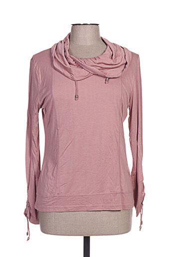 figure libre chemises femme de couleur rose