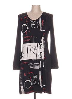 Robe mi-longue noir FIGURE LIBRE pour femme