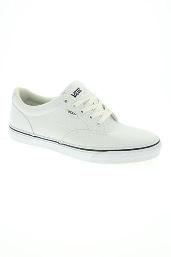 vans chaussures homme de couleur blanc