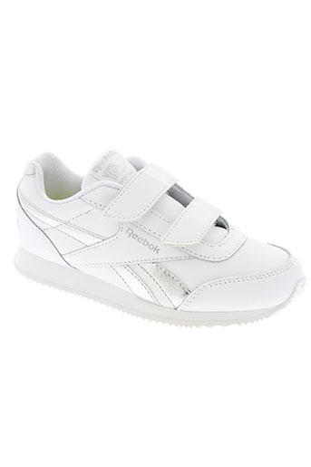reebok chaussures fille de couleur blanc