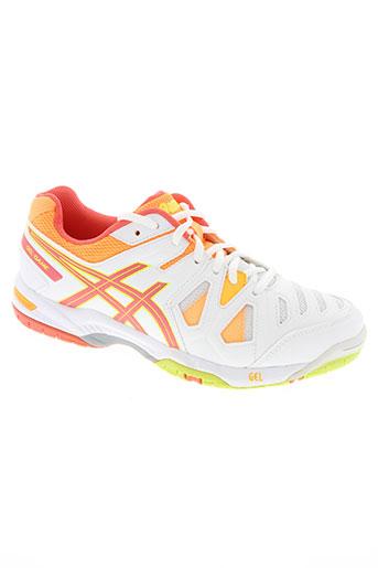 asics chaussures femme de couleur orange
