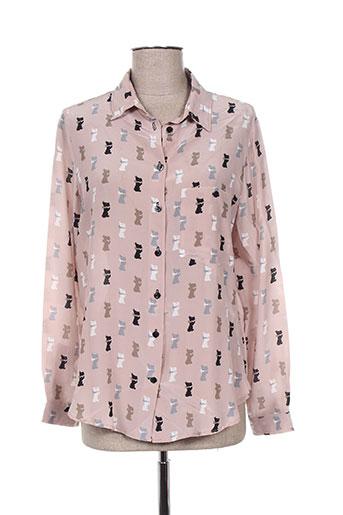 tricot chic chemises femme de couleur rose