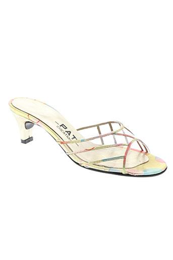 pat chaussures femme de couleur jaune