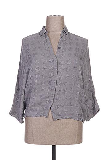 grizas chemises femme de couleur gris