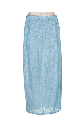 Jupe longue bleu GRIZAS pour femme