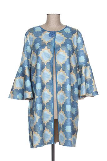 kontessa vestes femme de couleur bleu