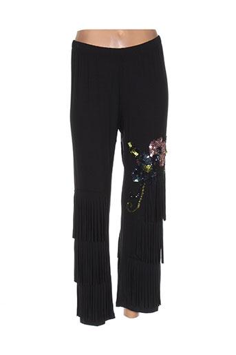 desoullounge pantalons femme de couleur noir