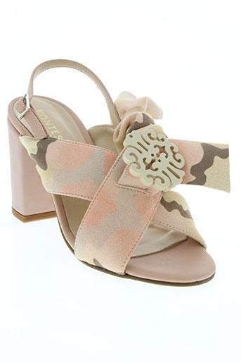 kontessa chaussures femme de couleur rose