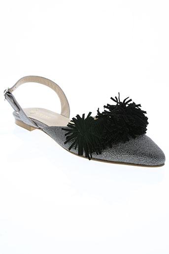 kontessa chaussures femme de couleur noir