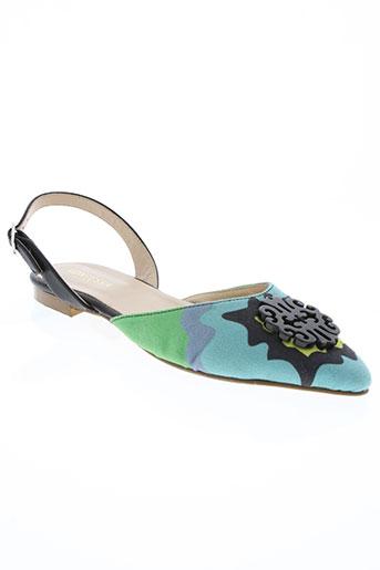 kontessa chaussures femme de couleur bleu