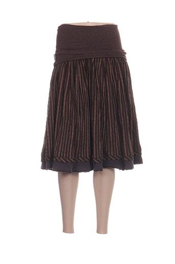 bohemia jupes femme de couleur marron