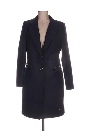 mariely manteaux femme de couleur bleu