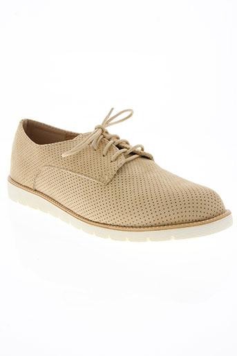 pinkaï chaussures femme de couleur beige