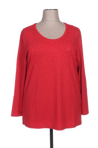 kjbrand t-shirts femme de couleur rouge