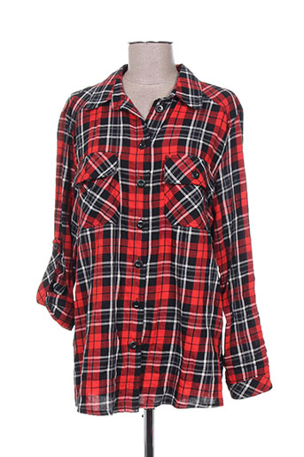 kjbrand chemises femme de couleur rouge