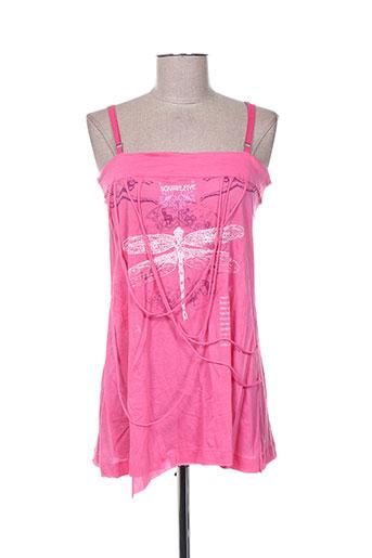 my square chemises femme de couleur rose