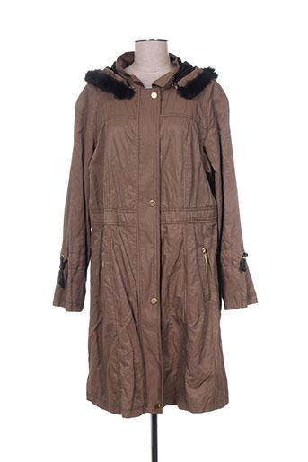 mat. manteaux femme de couleur marron