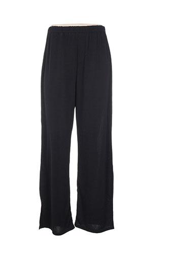 edmond boublil pantalons femme de couleur noir