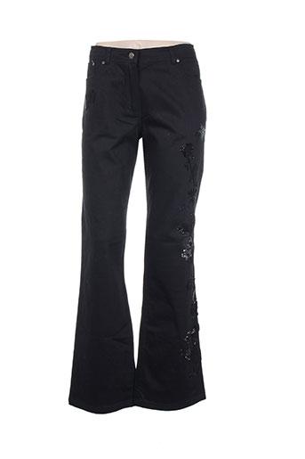 giani f pantalons femme de couleur noir