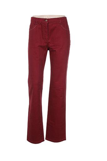 club of comfort pantalons femme de couleur rouge
