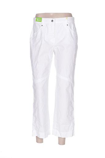 club of comfort pantalons femme de couleur blanc