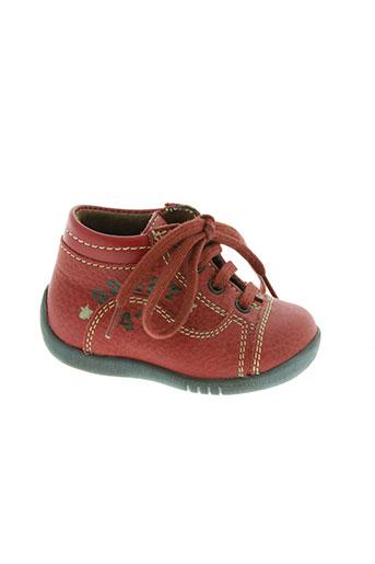 little mary chaussures garçon de couleur rouge
