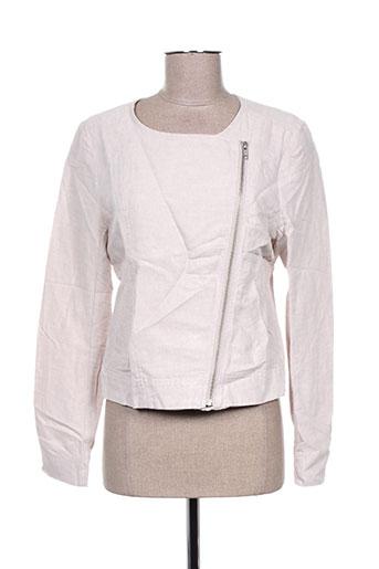 Veste casual beige ICHI pour femme