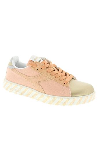 diadora chaussures femme de couleur rose