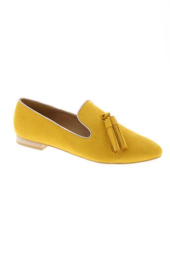 vanessa wu chaussures femme de couleur jaune