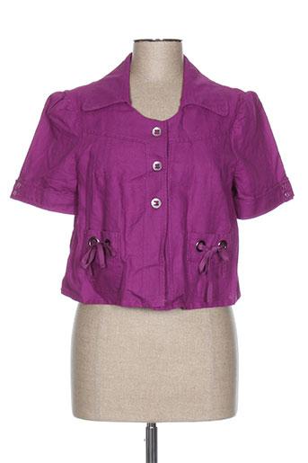 perspectives vestes femme de couleur violet