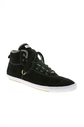 faguo chaussures unisexe de couleur noir
