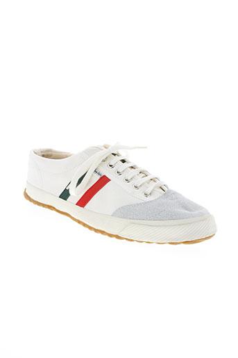 el ganso chaussures homme de couleur blanc