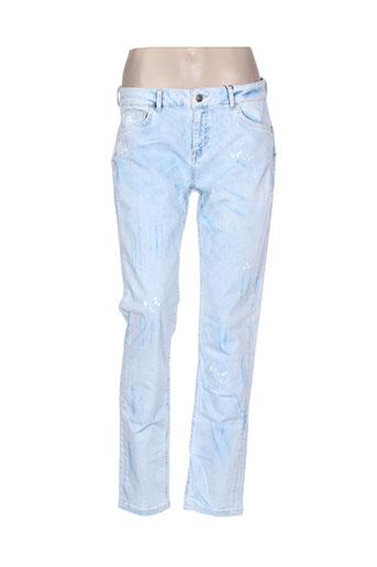 so soon jeans femme de couleur bleu