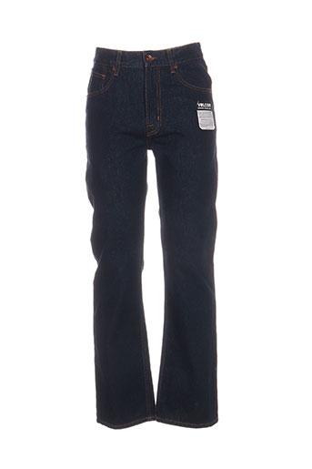 volcom jeans femme de couleur bleu