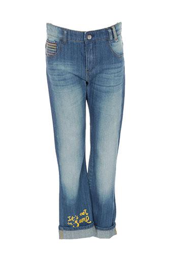desigual jeans fille de couleur bleu